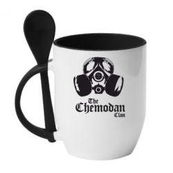 Кружка с керамической ложкой Chemodan - FatLine