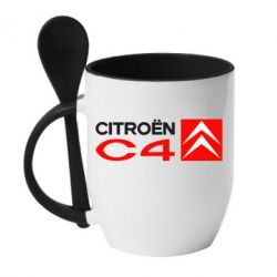 Кружка с керамической ложкой CITROEN C4 - FatLine
