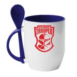 Кружка с керамической ложкой Clone Trooper - FatLine