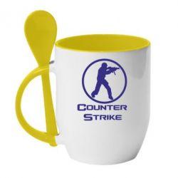 Кружка с керамической ложкой Counter Strike - FatLine