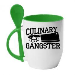 Кружка с керамической ложкой Culinary Gangster - FatLine