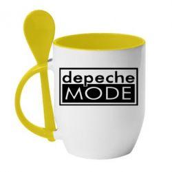 Кружка с керамической ложкой Depeche Mode Rock - FatLine