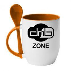Кружка с керамической ложкой DnB Zone - FatLine