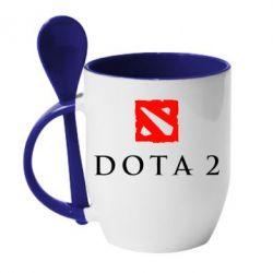 Кружка с керамической ложкой Dota 2 - FatLine