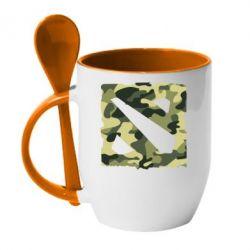 Кружка с керамической ложкой Dota камуфляж - FatLine