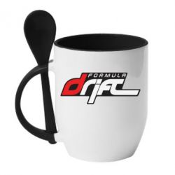 Кружка с керамической ложкой Drift Formula - FatLine