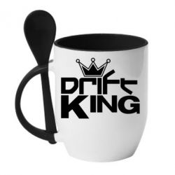 Кружка с керамической ложкой Drift King - FatLine