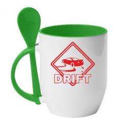 Кружка с керамической ложкой Drift - FatLine