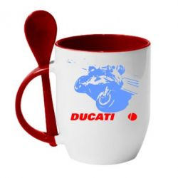 Кружка с керамической ложкой Dukati - FatLine