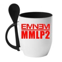 Кружка с керамической ложкой Eminem MMLP2 - FatLine