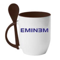 Кружка с керамической ложкой Eminem - FatLine