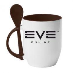 Кружка с керамической ложкой EVE Online - FatLine