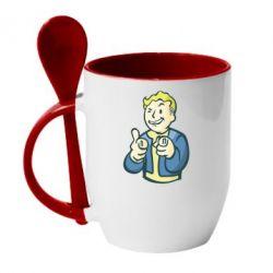 Кружка с керамической ложкой Fallout 4 Boy - FatLine