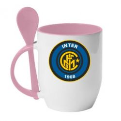 Кружка с керамической ложкой FC Inter - FatLine