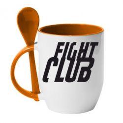 Кружка с керамической ложкой Fight Club - FatLine