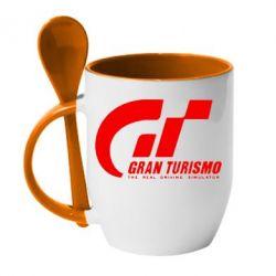 Кружка с керамической ложкой Gran Turismo