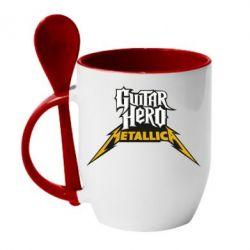 Кружка с керамической ложкой Guitar Hero Metallica - FatLine