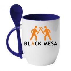 Кружка с керамической ложкой Half Life Black Mesa - FatLine