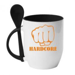 Кружка с керамической ложкой hardcore - FatLine