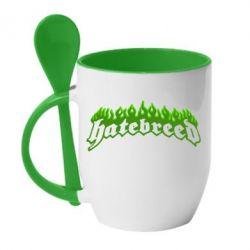 Кружка з керамічною ложкою Hatebreed
