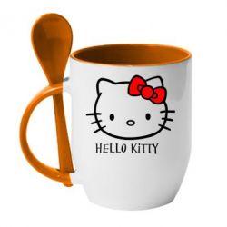 Кружка с керамической ложкой Hello Kitty - FatLine