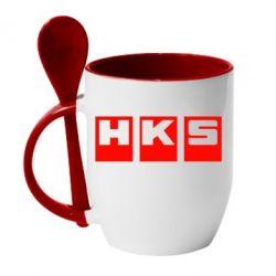 Кружка с керамической ложкой HKS - FatLine