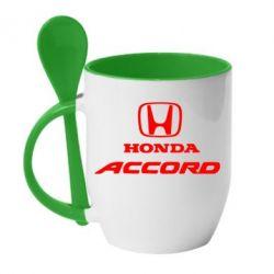 Кружка с керамической ложкой Honda Accord - FatLine