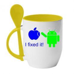 Кружка с керамической ложкой I fixed it! Android - FatLine