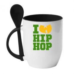 Кружка с керамической ложкой I love Hip-hop Wu-Tang - FatLine