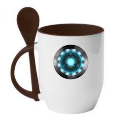 Кружка с керамической ложкой Iron Man Device - FatLine