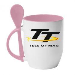 Кружка с керамической ложкой Isle of man - FatLine