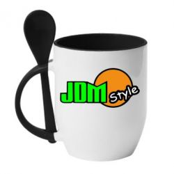 Кружка с керамической ложкой JDM Style - FatLine