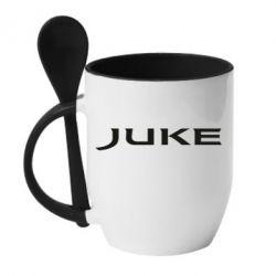 Кружка с керамической ложкой Juke - FatLine