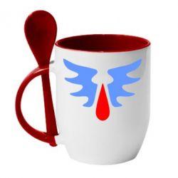 Кружка с керамической ложкой Кровавые Ангелы - WarHammer - FatLine