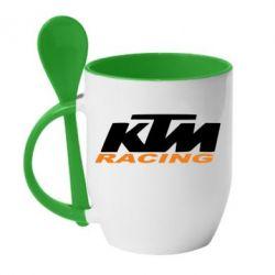 Кружка с керамической ложкой KTM Racing - FatLine