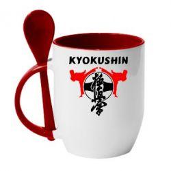 Кружка с керамической ложкой Kyokushin - FatLine