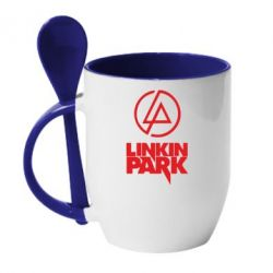 Кружка с керамической ложкой Linkin Park - FatLine
