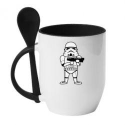 Кружка з керамічною ложкою Little Stormtrooper