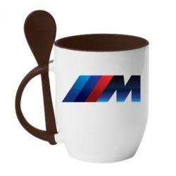 Кружка з керамічною ложкою M Power Art