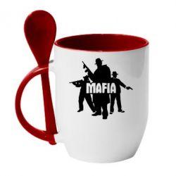 Кружка с керамической ложкой Mafia - FatLine