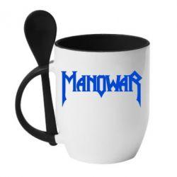 Кружка с керамической ложкой Manowar - FatLine