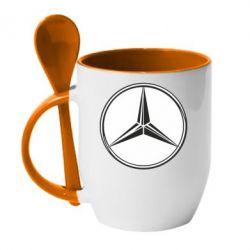 Кружка с керамической ложкой Mercedes - FatLine
