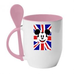 Кружка с керамической ложкой Mickey Swag - FatLine