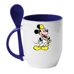 Кружка с керамической ложкой Микки Доктор - FatLine