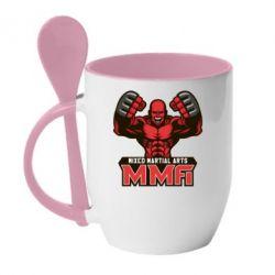 Кружка с керамической ложкой MMA Fighter 2 - FatLine