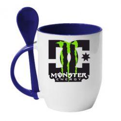Кружка с керамической ложкой Monster Energy DC - FatLine
