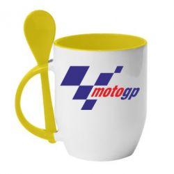 Кружка с керамической ложкой MOTO GP - FatLine