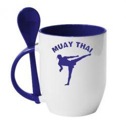Кружка с керамической ложкой Muay Thai - FatLine