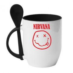 Кружка з керамічною ложкою Nirvana (Нірвана) - FatLine
