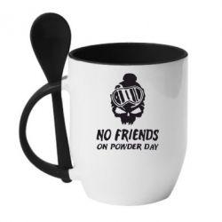 Кружка з керамічною ложкою No friends on powder day